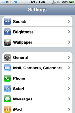 Apple iPhone iOS 5 using IMAP w/ SSL