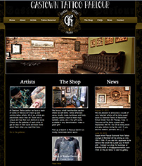 Custom Website Design for Tattoo Parlours
