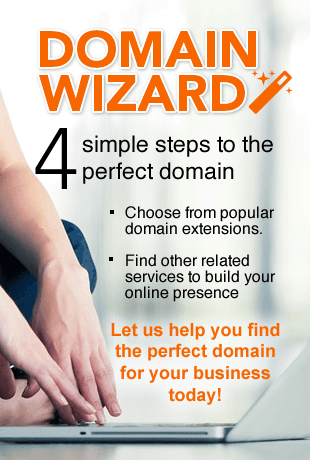 Domain Wizard - 4 steps to the perfect domain