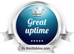 HostAdvice Great Uptime Award for Webnames