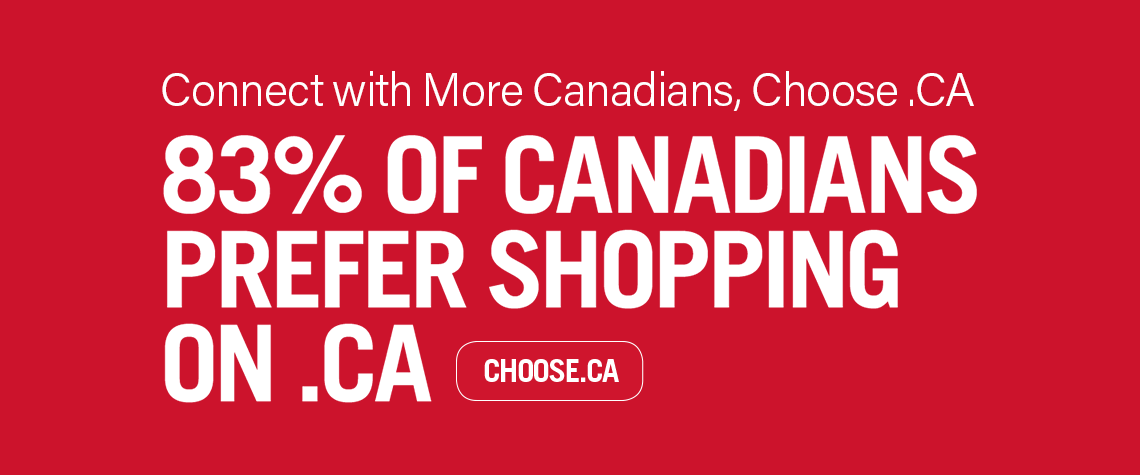 83% of Canadians prefer shopping on .CA
