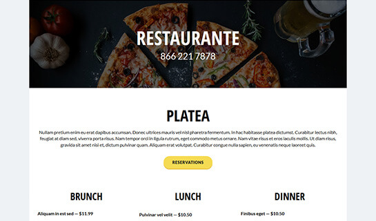 Catalog website template