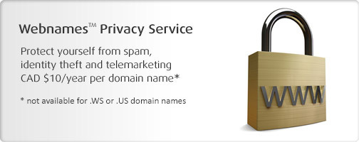 Protect your domain with Webnames.ca